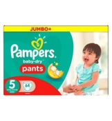 Pampers Baby-Dry Hose Größe 5 Jumbo Box 64 Windeln -