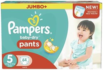 Pampers Baby Dry Pants Größe 5 Junior 12-18kg Jumbo Plus Pack 64 Windeln -