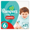 Pampers Baby-Dry Pants Größe6, 15+kg, Windeln, 4er Pack (4 x 21 Stück) -