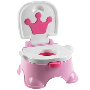 MultiWare 2 In 1 Lerntöpfchen Rosa Fisher Price Toilettentrainer Für Kinder Töpfchen Mit Musik und Fußbank - 1