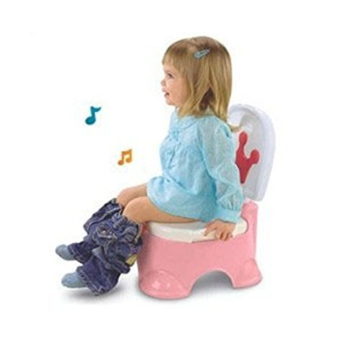 MultiWare 2 In 1 Lerntöpfchen Rosa Fisher Price Toilettentrainer Für Kinder Töpfchen Mit Musik und Fußbank - 7