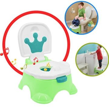 Töpfchen,Preup Babytöpfchen Kindertöpfchen Toilettentrainer Lerntöpfchen WC/Klo kindertopf mit musik - 3